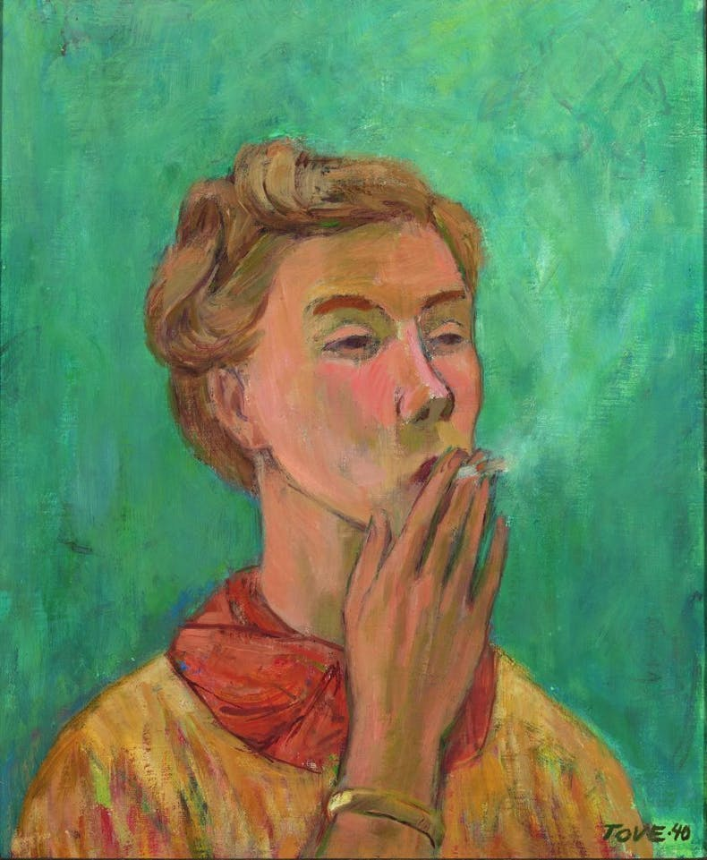 The Smoking Girl (Self-Portrait) (1940), Tove Jansson