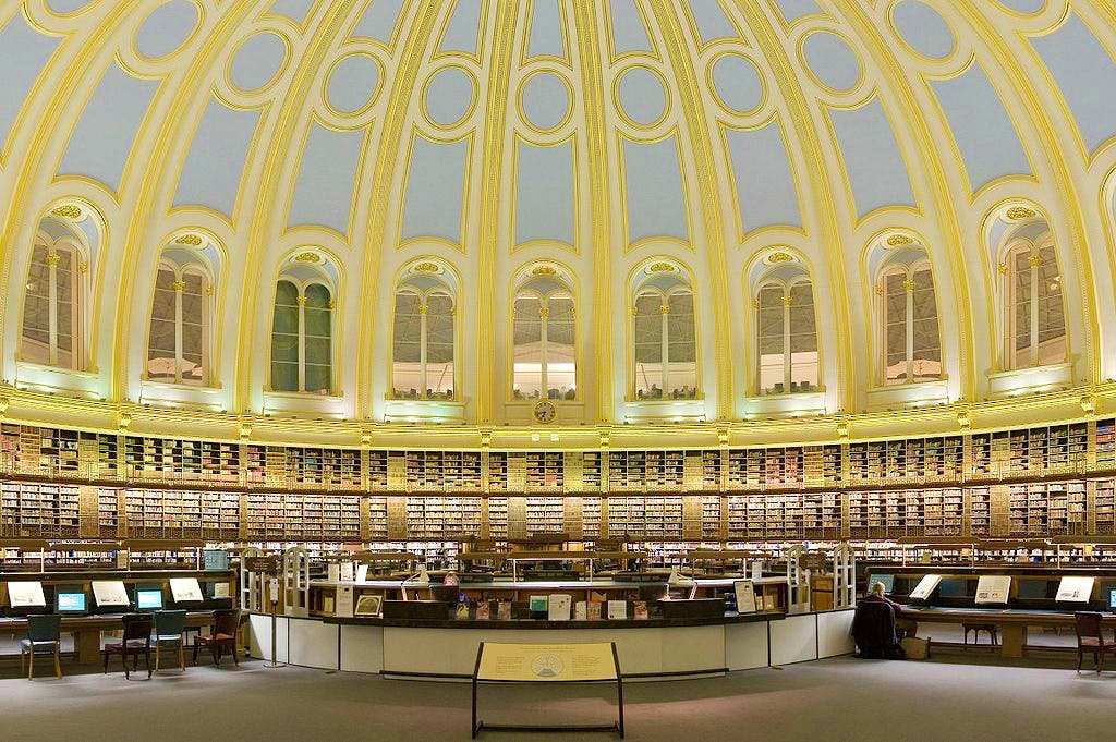 The British Museum's Reading Room in 2006.