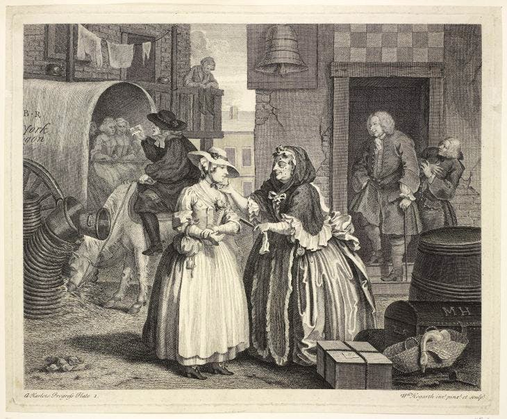 A Harlot's Progress, (1732), William Hogarth, Royal Collection Trust/© Her Majesty Queen Elizabeth II 2016