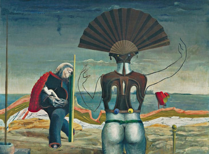 Woman, Old Man, and Flower(Weib, Greis und Blume) (1924), Max Ernst. The Museum of Modern Art, New York © 2017 Artists Rights Society (ARS), New York / ADAGP, Paris