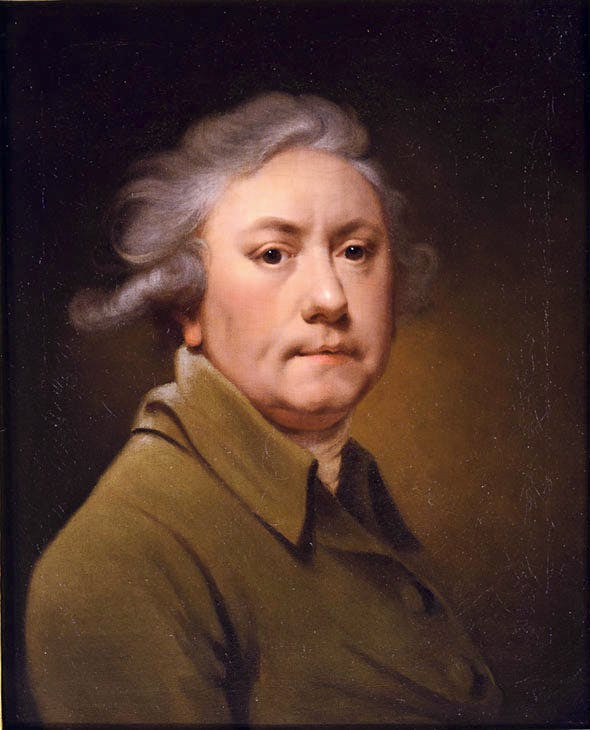 Self–portrait aged 59 in a grey coat (1793), Joseph Wright of Derby. The Parker Gallery at LAPADA