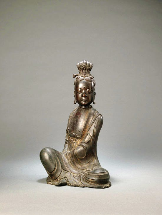 Seated figure of Guanyin, Ming dynasty (1368–1644), ht 42cm. Priestley & Ferraro at Fine Art Asia