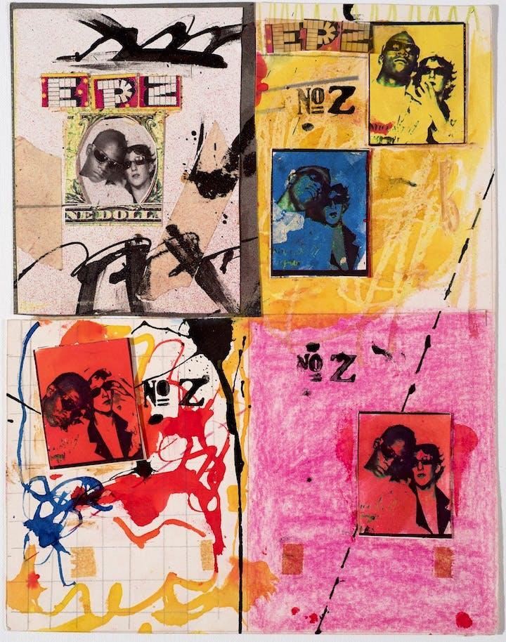 Anti-Baseball Card Product (1979), Jean-Michel Basquiat and Jennifer Stein. Courtesy Jennifer Von Holstein © Jennifer Von Holstein and The Estate of Jean-Michel Basquiat. Licensed by Artestar, New York