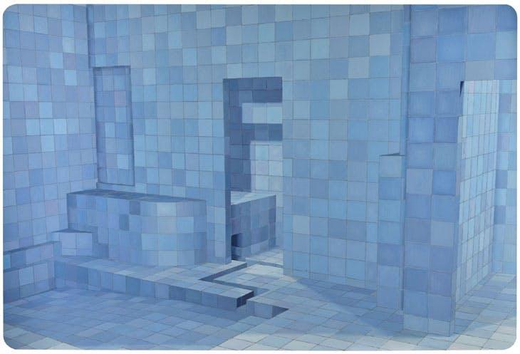 Blue Sauna (2003), Adriana Varejão. Sotheby's London: estimate £400,000–£600,000