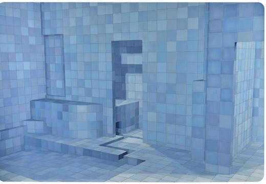 Blue Sauna (2003), Adriana Varejão. Sotheby's London: estimate £400,000–£600,000