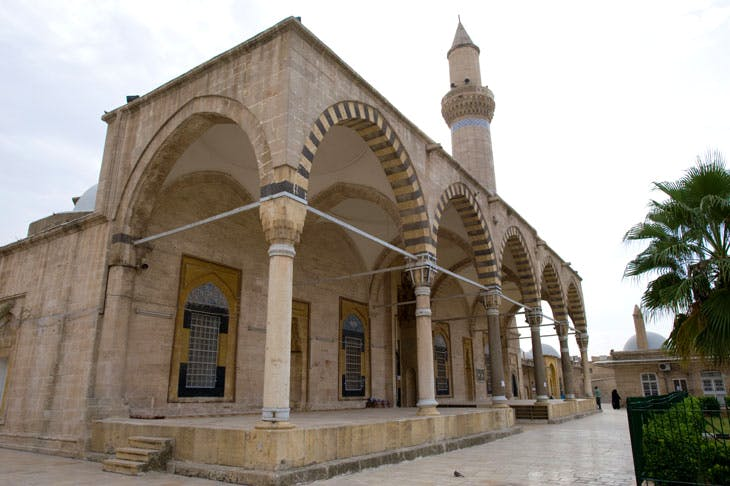 The portico of the Khosrofiye Mosque (1546), the work of Sinan, the great court architect to Suleiman the Magnificent. The structure was obliterated by tunnel bomb in 2014.