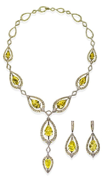 'Merveille' necklace and earrings, 2017. Boghossian (price on application)