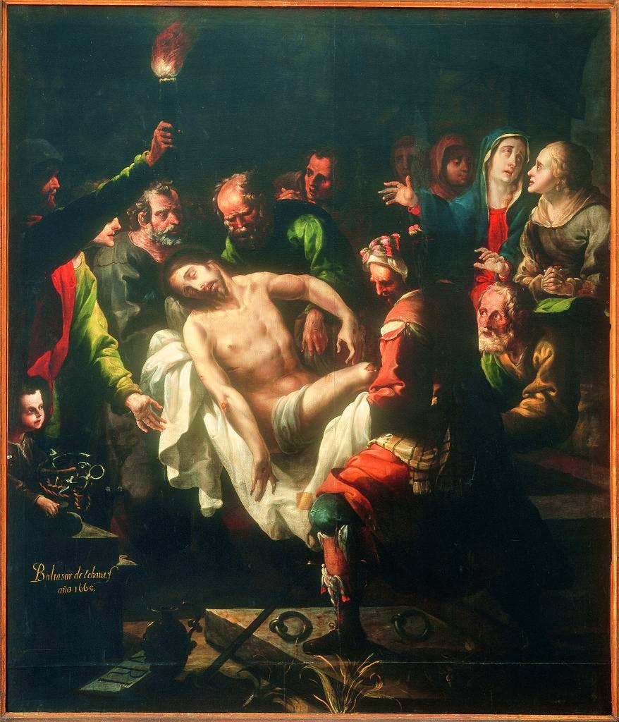 The Entombment of Christ, (1665), Baltasar de Echave y Rioja, Museo Nacional de Arte, Mexico City
