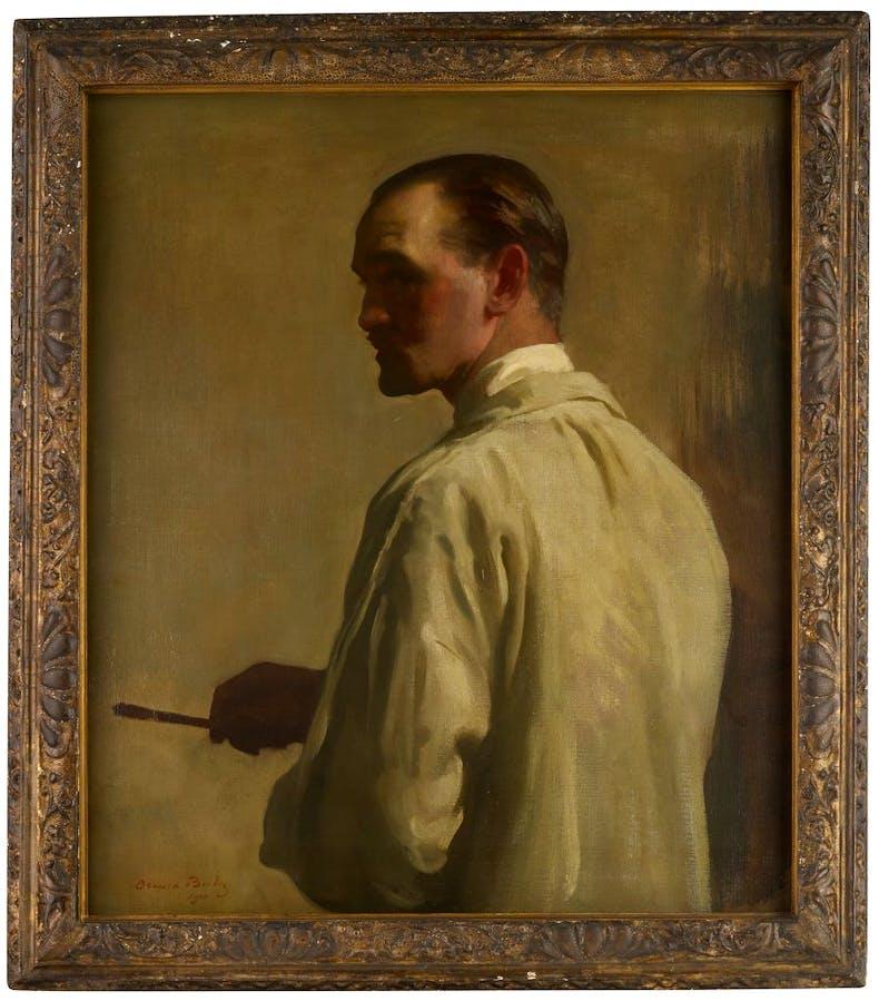 Self-portrait in profile, (1920), Oswald Birley, private collection