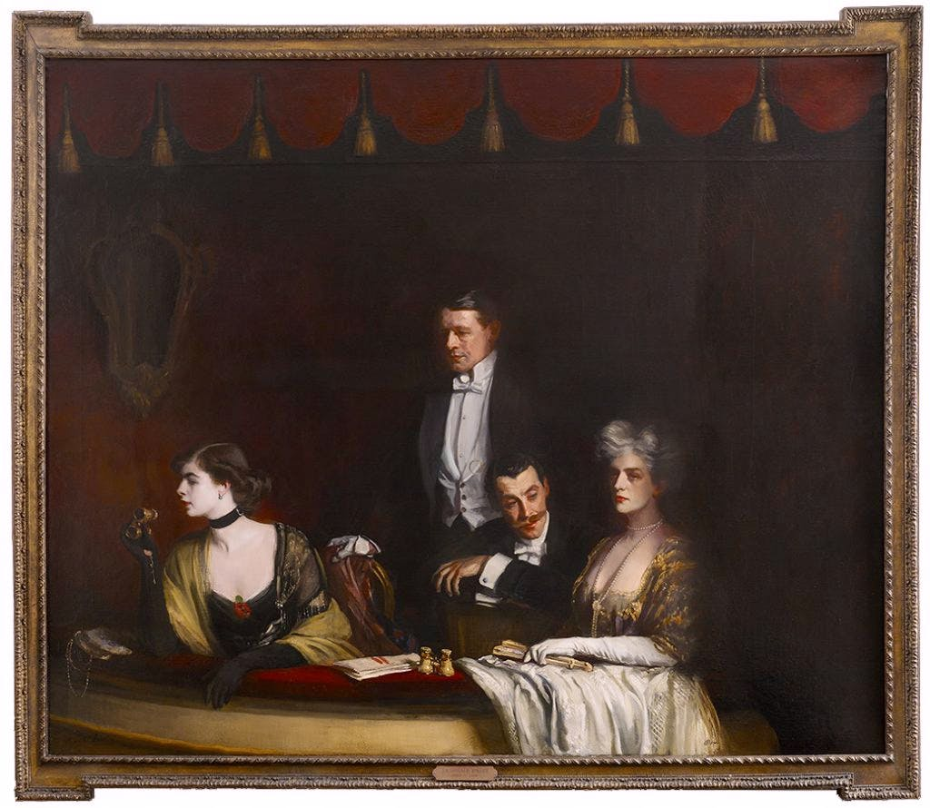 The Theatre Box, (1910), Oswald Birley, private collection