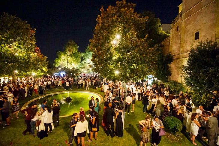 The opening reception at the 15th Istanbul Biennial