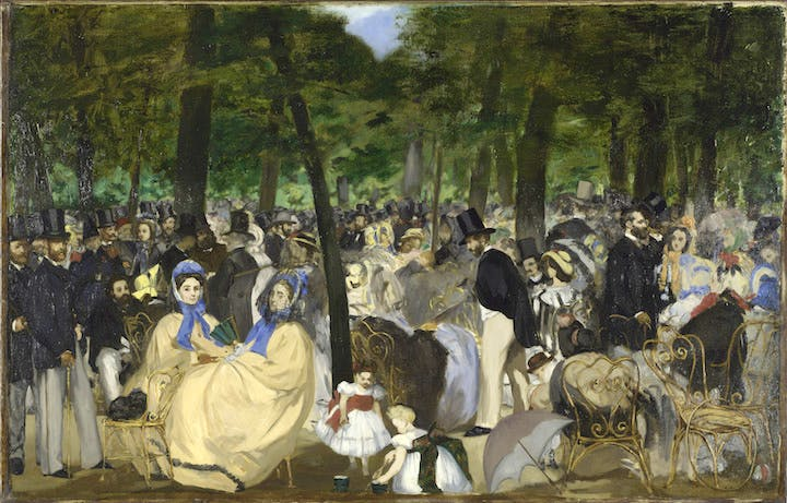 Music in the Tuileries Garden (1861–62), Edouard Manet. © 2017. Copyright The National Gallery, London/Scala, Florence