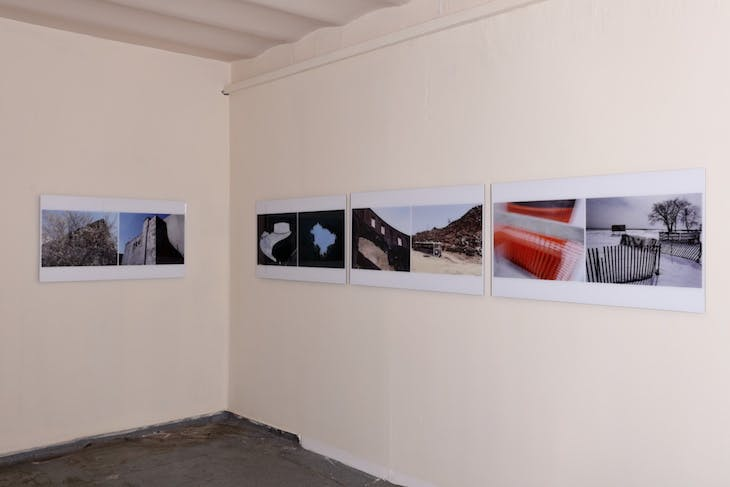 Installation view of 'Kiralık, Satılık (For Rent, For Sale)' at Protocinema. Courtesy Protocinema, Istanbul, New York