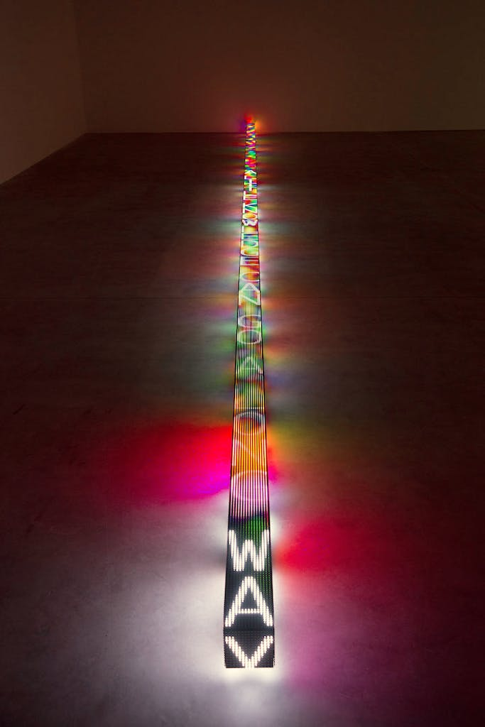 FLOOR (2015), Jenny Holzer. Photo: Ken Adlard © 2015 Jenny Holzer, member Artists Rights Society (ARS), NY