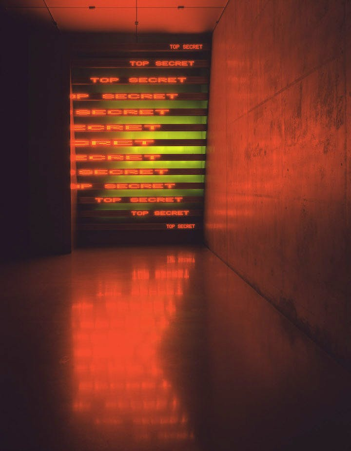 Red Yellow Looming (2004), Jenny Holzer. Photo: Attilio Maranzano © 2004 Jenny Holzer, member Artists Rights Society (ARS), NY