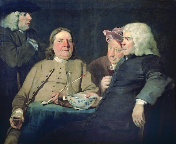 Mr Oldham and his Guests (c. 1735–45), Joseph Highmore. © Tate, London 2015