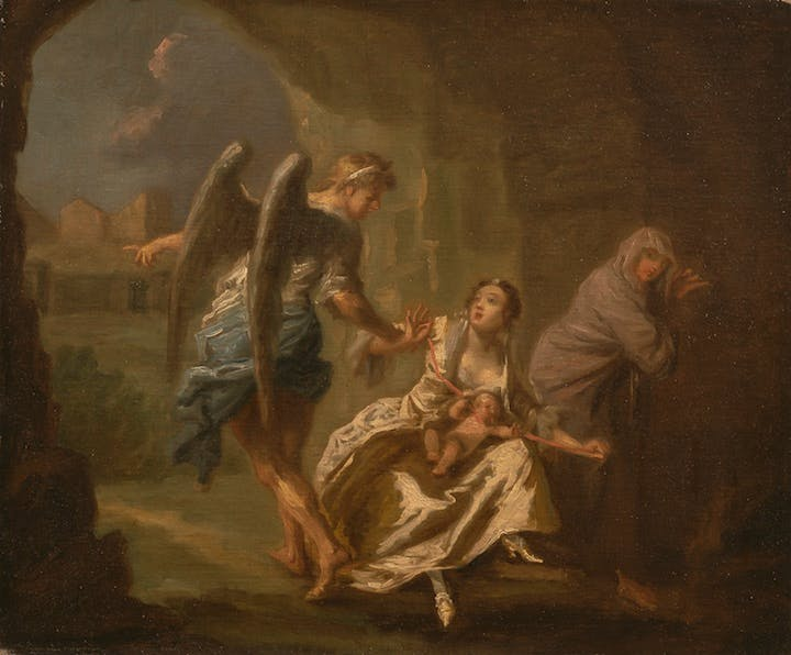 The Angel of Mercy (c. 1746), Joseph Highmore. Yale Center for British Art, Paul Mellon Collection