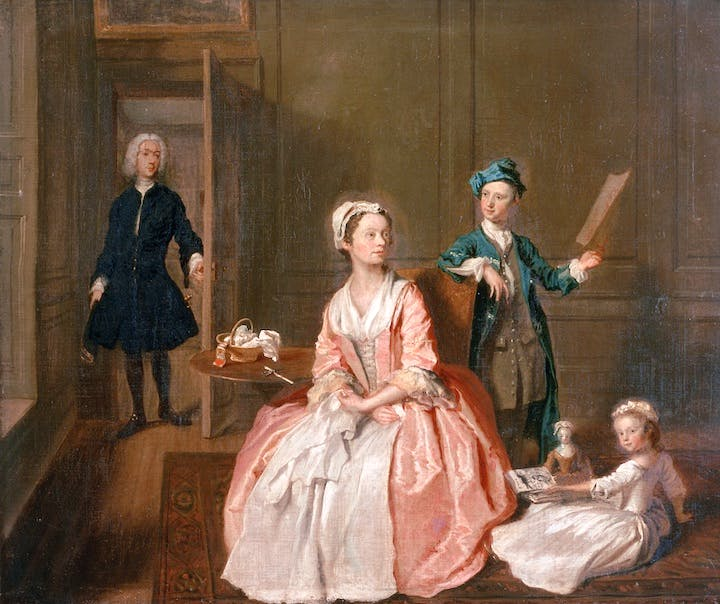 The Artist's Family (c. 1730), Joseph Highmore. © Private collection / Bridgeman Images