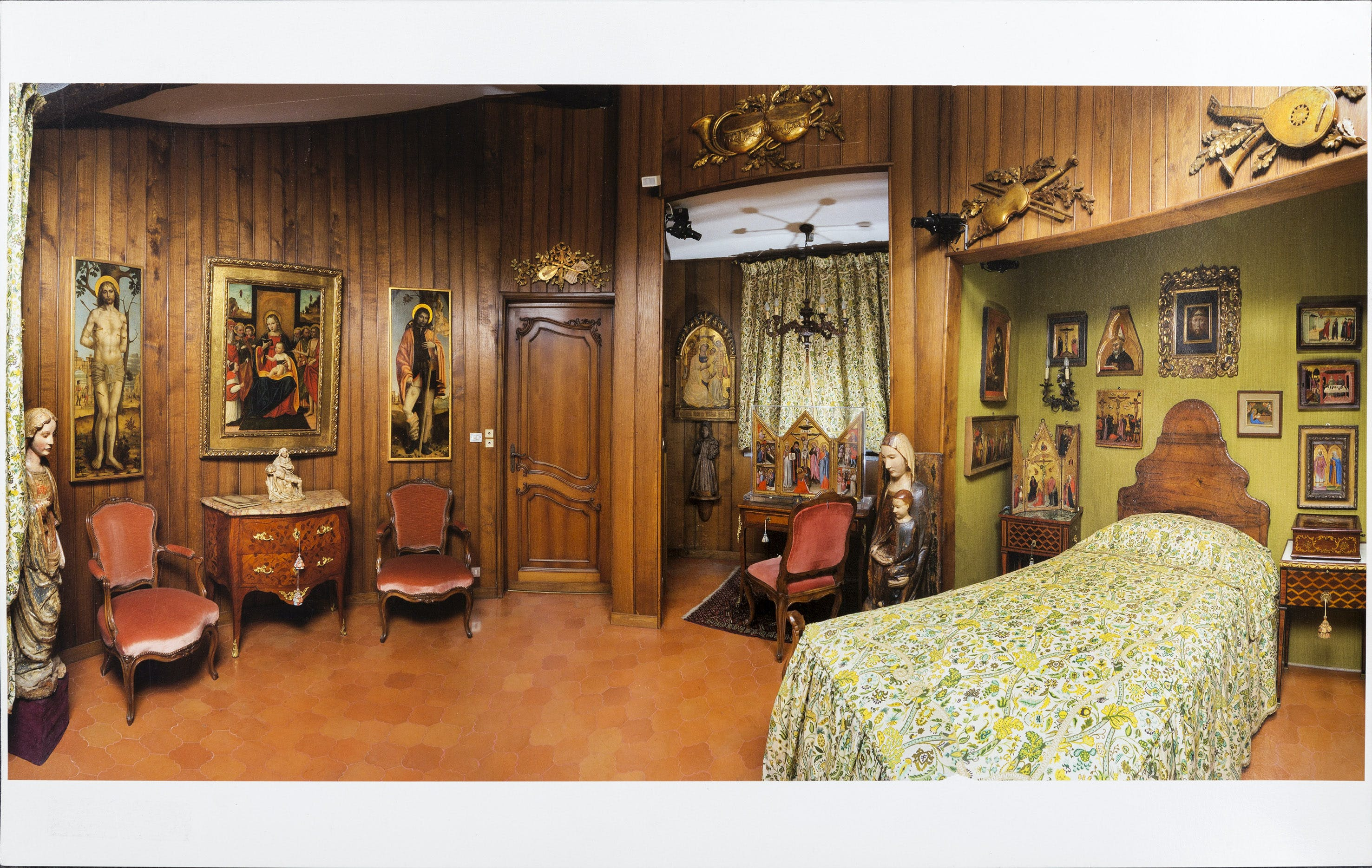 The main bedroom at the villa of Francesco Federico Cerruti (1922–2015)
