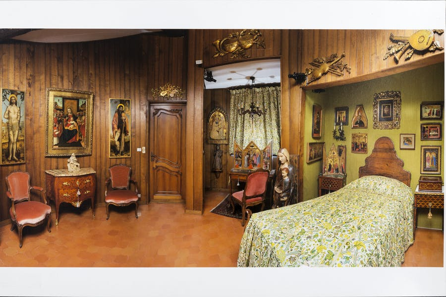 The main bedroom at the villa of Francesco Federico Cerruti (1922–2015)