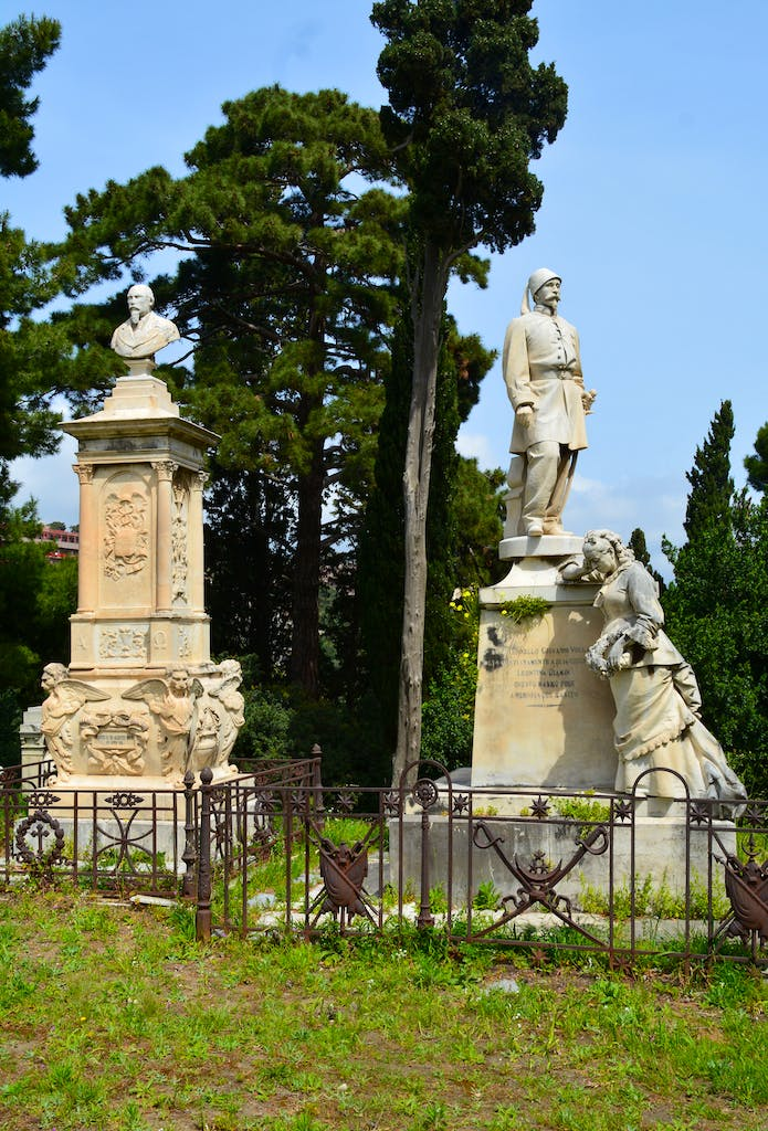 Monuments in the Campo Santo, Messina.