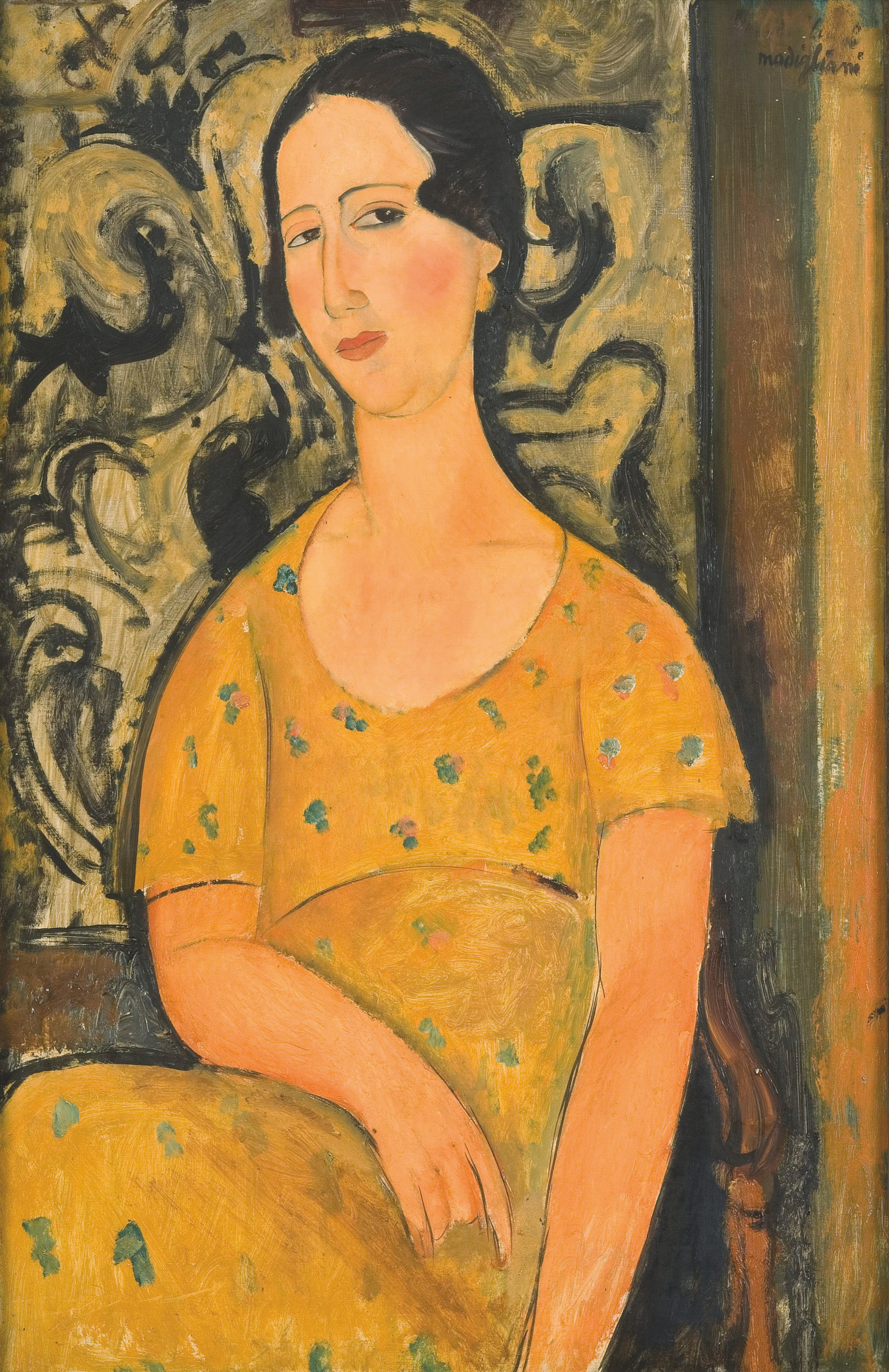 Woman in a Yellow Dress (La Belle Espagnole) (1918), Amadeo Modigliani