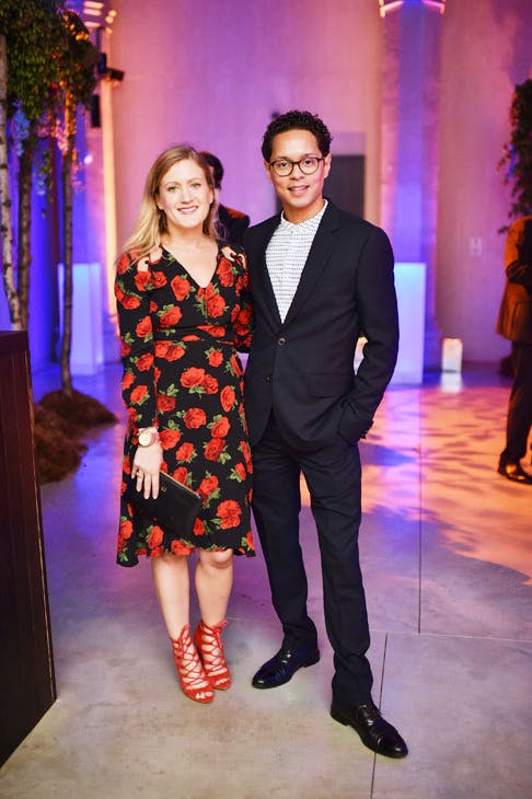 Georgina Borthwick and Aaron Cezar at the Apollo 40 Under 40 Global launch party. © Nick Harvey