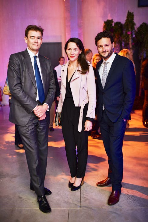 Michael Morley, Victoria Siddall and Thomas Marks at the Apollo 40 Under 40 Global launch party. © Nick Harvey