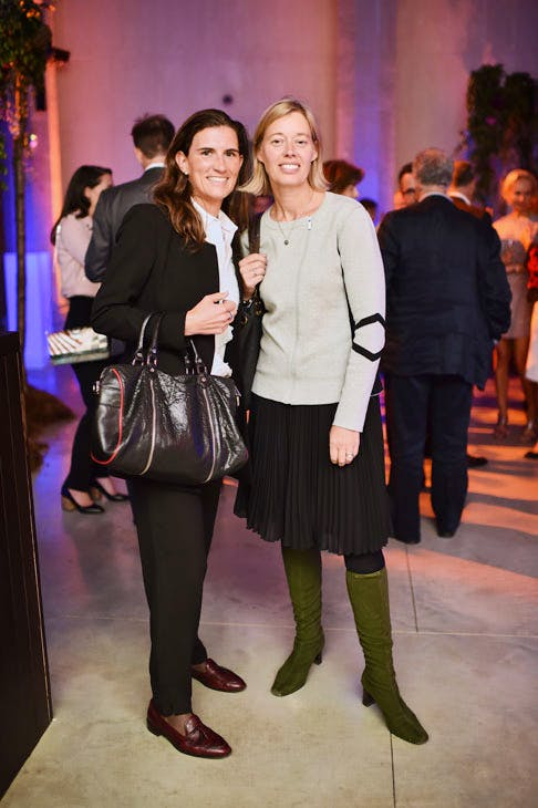 Franziska Kunz and Mary Findlay at the Apollo 40 Under 40 Global launch party. © Nick Harvey