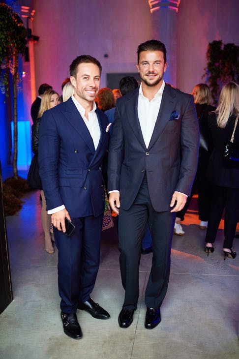 Christopher Byrne and Federico Castro Debernardi at the Apollo 40 Under 40 Global launch party. © Nick Harvey
