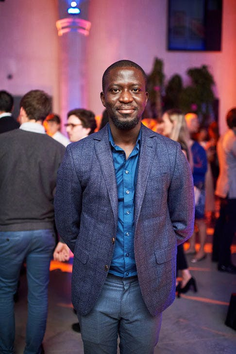 Ibrahim Mahama at the Apollo 40 Under 40 Global launch party. © Nick Harvey