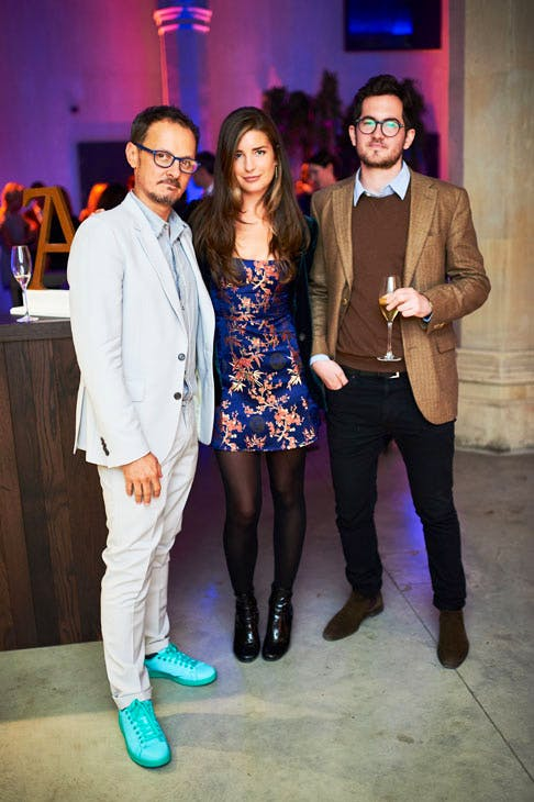 Jonathan Yeo and Nettie Wakefield at the Apollo 40 Under 40 Global launch party. © Nick Harvey