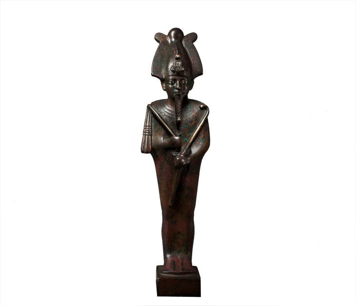 Statuette of Osiris (c. 600 BC), Egyptian, Late Dynastic Period. Charles Ede
