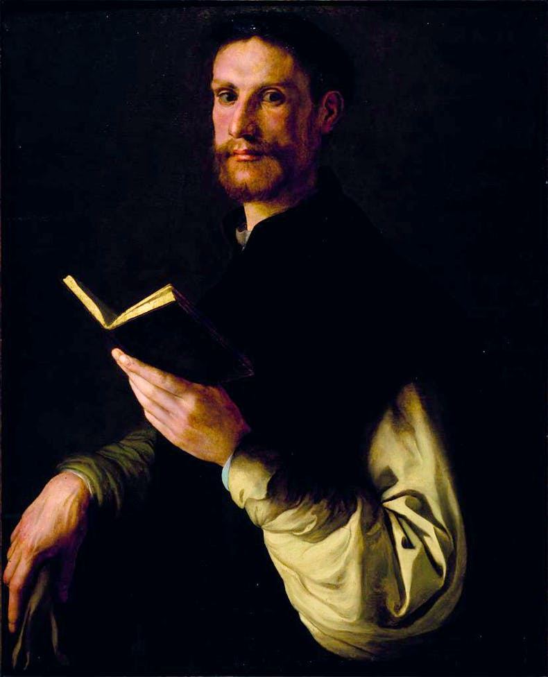 Portrait of a Gentleman with Book (1534–35), Jacopo Carucci, known as Pontormo