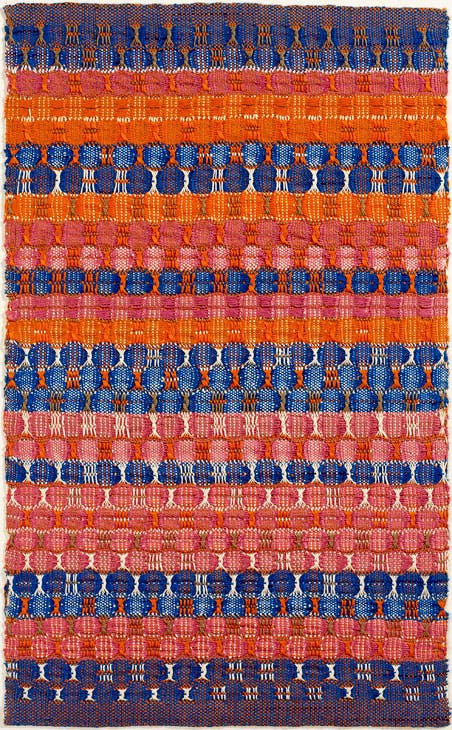 Red and Blue Layers (1954), Anni Albers. Photo: Tim Nighswander/Imaging4Art © The Josef and Anni Albers Foundation, VEGAP, Bilbao, 2017