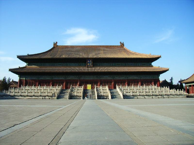 The Imperial Ancestral Temple, or Taimiao in Beijing, one of the venues for the controversial 'Deutschland 8: German Art in China' exhibition
