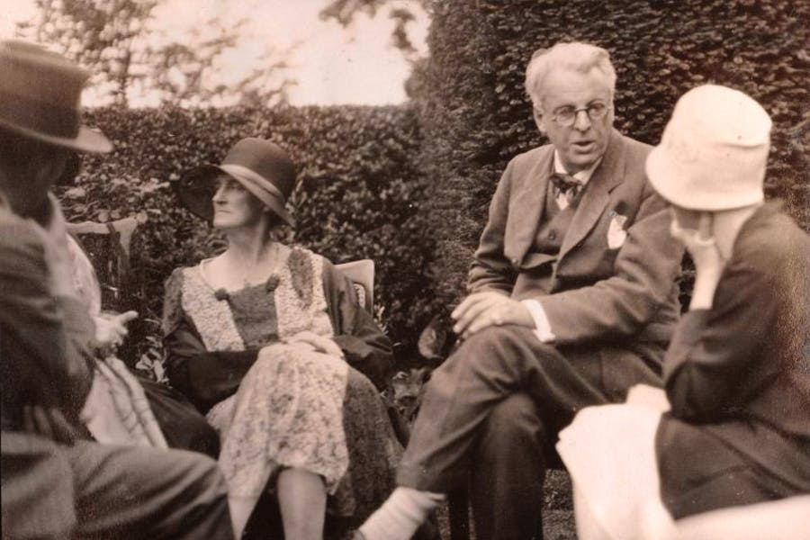 WB Yeats with Walter de la Mare and Ottoline Morrell