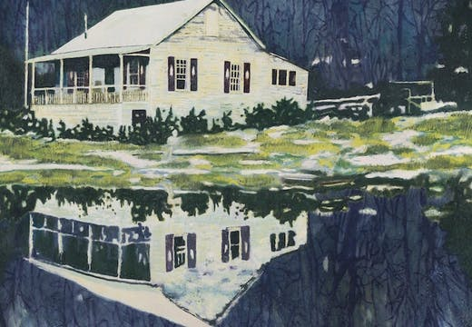 Camp Forestia (1996), Peter Doig. Christie's London, estimate: £14m–£18m