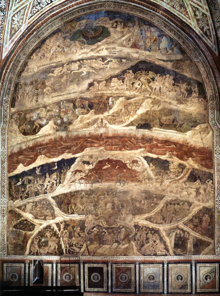 May day: Orcagna's vision of hell in Santa Maria Novella, Florence
