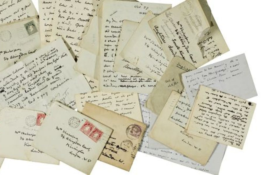 Letters from W.B. Yeats to Olivia Shakespear, part of the Yeats Family Collection be auctioned at Sotheby's London on 27 September