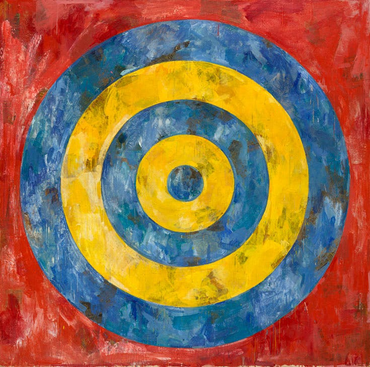 Target (1961), Jasper Johns. © Jasper Johns / VAGA, New York / DACS, London. Photo: © 2017. The Art Institute of Chicago / Art Resource, NY / Scala, Florence