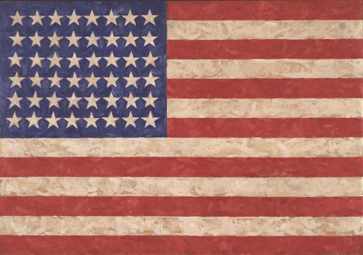 Flag (1958), Jasper Johns. © Jasper Johns / VAGA, New York / DACS, London 2017. Photo: Jamie Stukenberg © The Wildenstein Plattner Institute, 2017