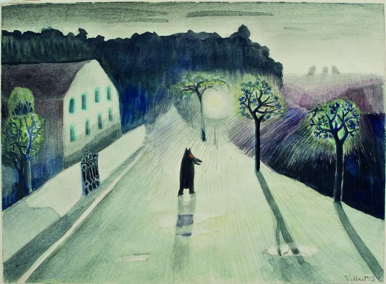 A Black Moomintroll Walks around Town (1934), Tove Jansson