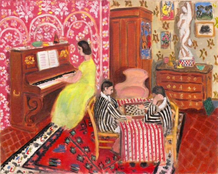 Pianist and Checker Players (1934), Henri Matisse. Courtesy of the National Gallery of Art, Washington © Succession H. Matisse 2017