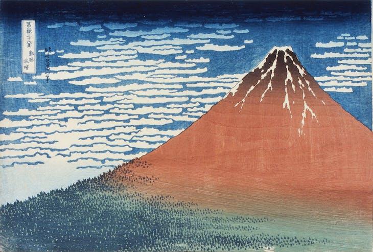 Rainstorm Beneath the Summit, from Thirty-six Views of Mount Fuji. (1831–32), Katsushika Hokusai. Sumida Hokusai Museum, Tokyo