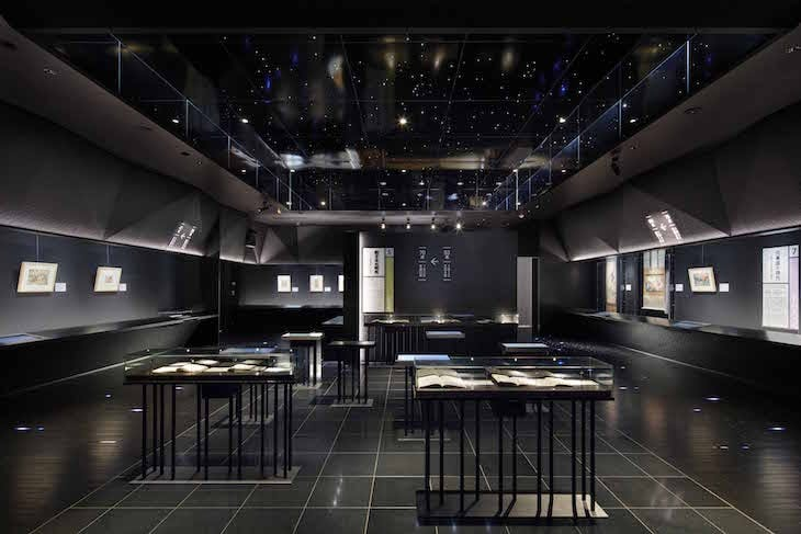 The permanent display in the Sumida Hokusai Museum traces Hokusai's long career