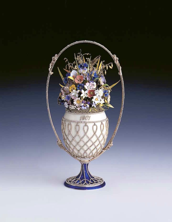 The Basket of Flowers Egg (1901), Fabergé. Royal Collection Trust / © Her Majesty Queen Elizabeth II 2017
