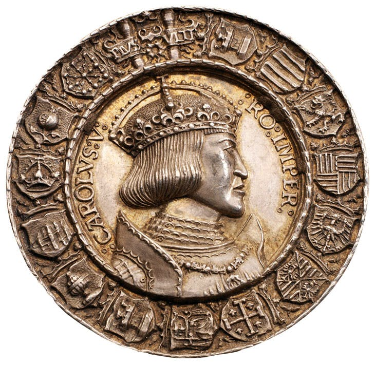 Portrait medal of Charles V obverse (1521), Albrecht Dürer and Hans Krafft the Elder. Morton & Eden, £258,750
