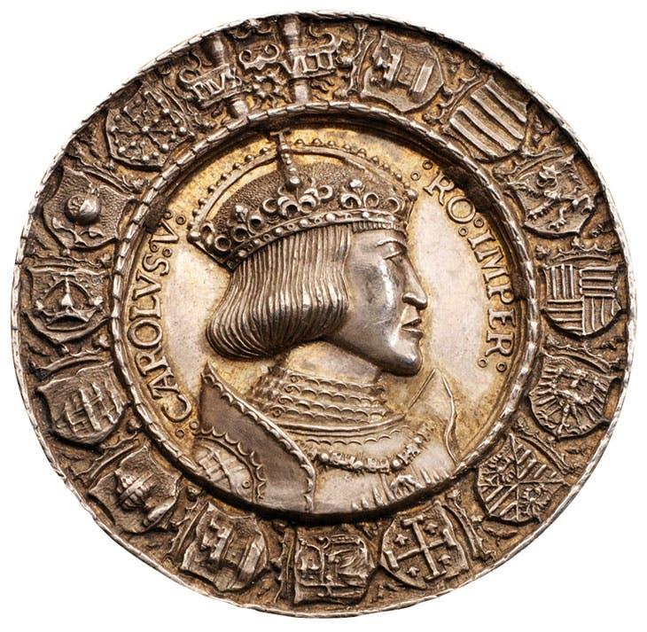 Portrait medal of Charles V obverse (1521), Albrecht Dürer and Hans Krafft the Elder. Morton & Eden, £258,750