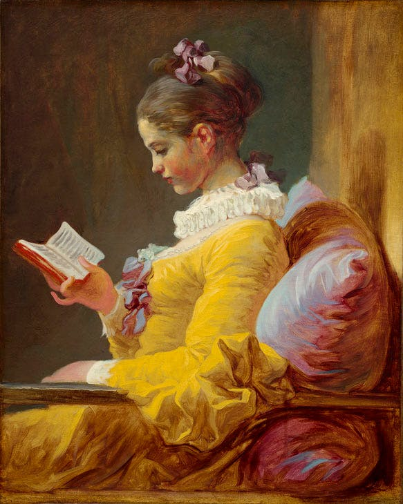 Young Girl Reading (c. 1769), Jean Honoré Fragonard. National Gallery of Art, Washington